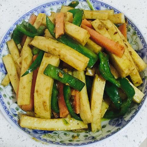 好吃的豆腐青椒