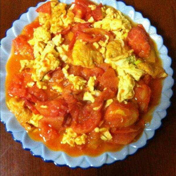 家常菜微波炉版番茄炒蛋