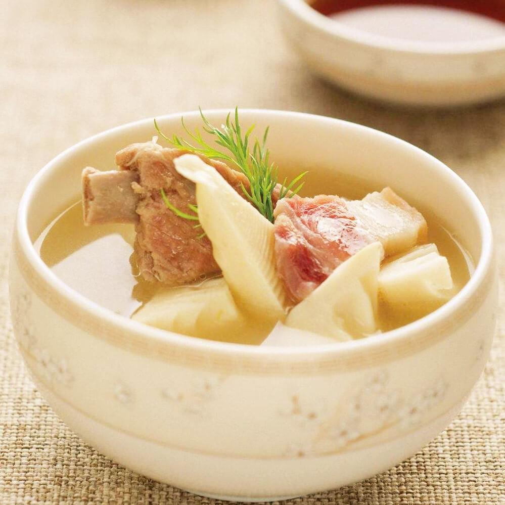 美味鮮筍蘑菇排骨湯