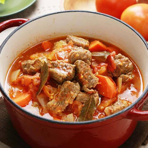 美味的番茄炖牛肉