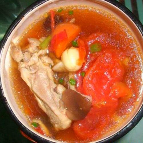 好吃的番茄雞肉湯