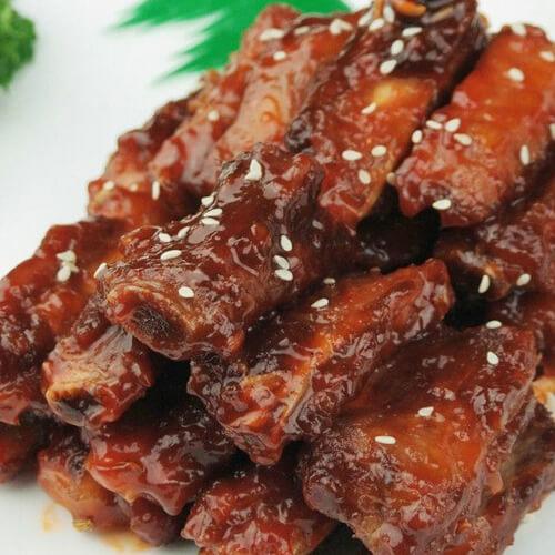 美味的醬香排骨粽
