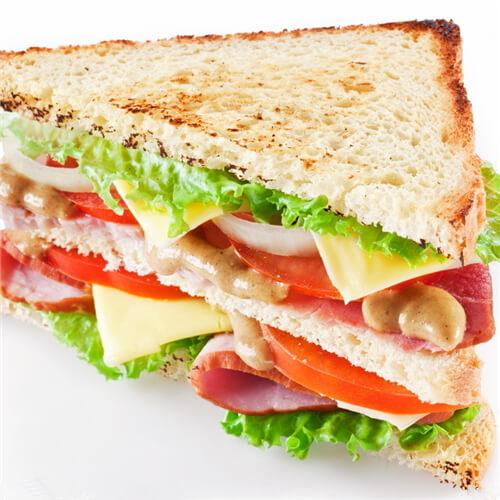 自制三文鱼罐头三明治