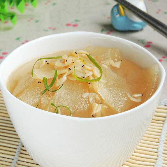 暖暖的虾皮冬瓜浓汤