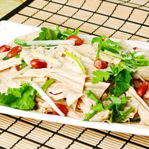 美味涼拌雞絲腐竹