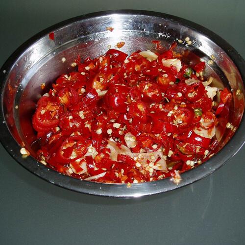 媽媽自制脆脆的剁辣椒