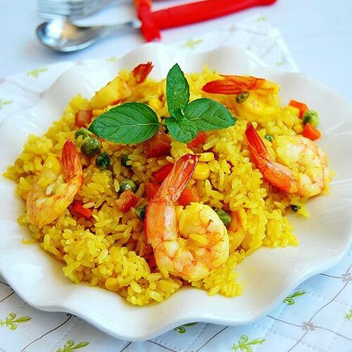 懒人必备咖喱虾仁焖米饭