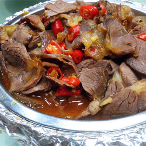 美味的大片牛肉