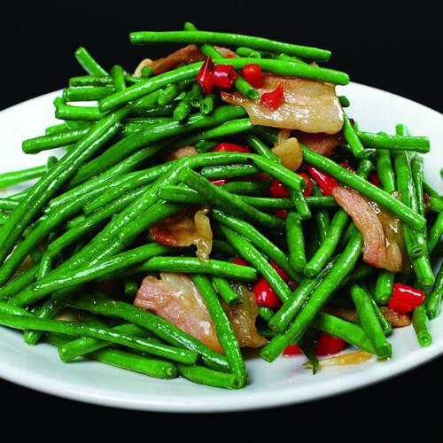清淡的青菜炒豇豆