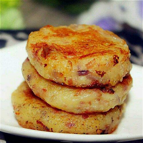好吃的土豆培根饼