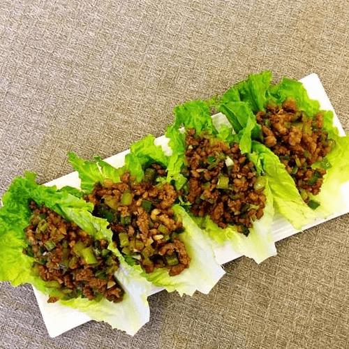 简单的生菜包牛肉