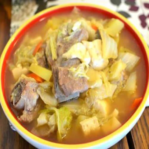好吃的排骨白菜豆腐湯