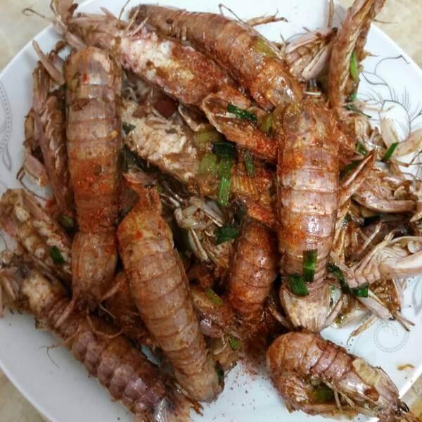 鸡蛋炒爬虾肉