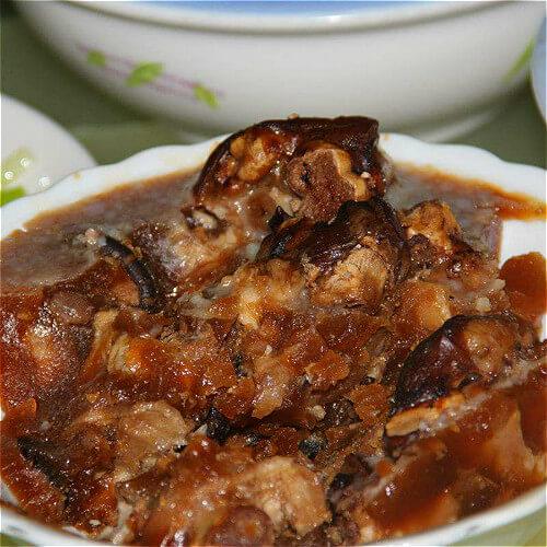 美味的猪蹄冻肉