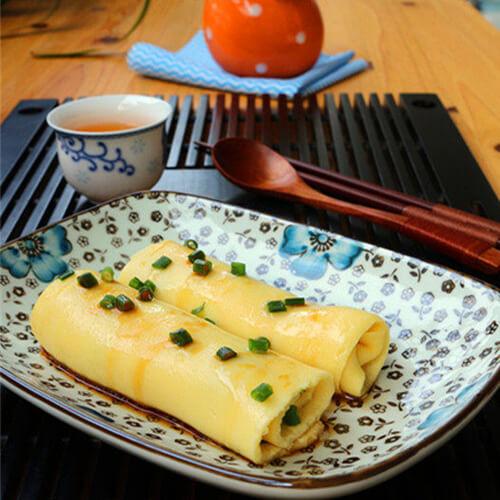 美味的广东小吃蒸蛋肠