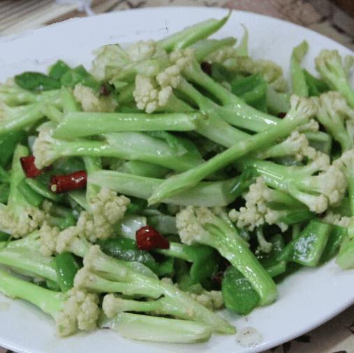 清炒有機花菜
