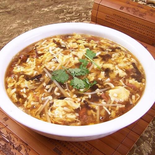美味肉末豆腐酸辣汤