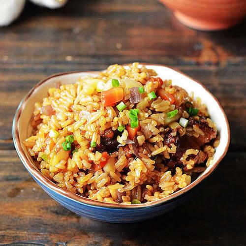 懒人做法菜豌豆焖饭