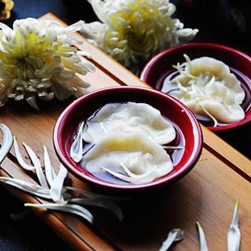 美味的菊花饺子