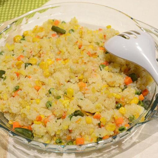 腊肠香菇玉米焖饭