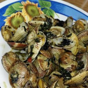 美味的老干媽炒花甲螺