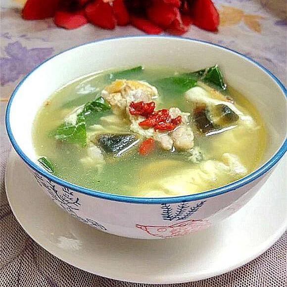 美味瘦肉金银蛋桑叶汤