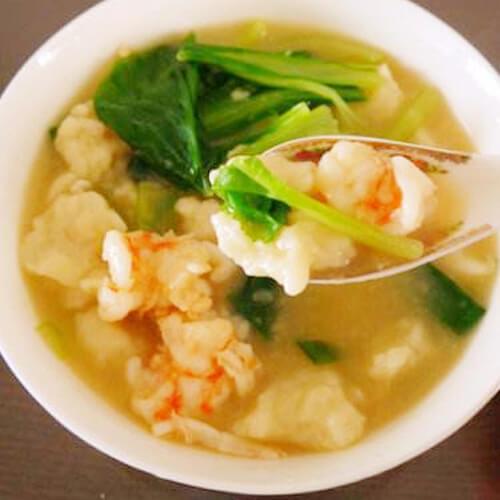 美味的鲜虾白菜汤