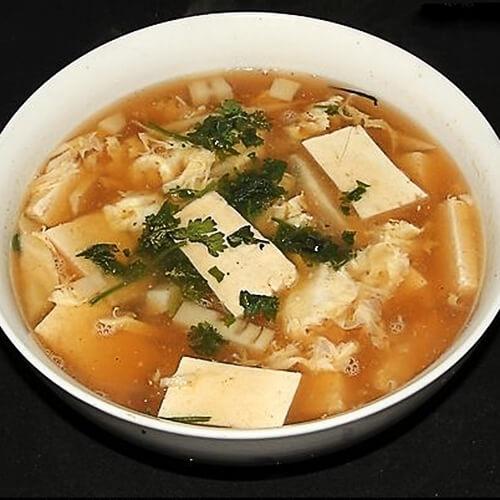 爽口肉末豆腐酸辣汤