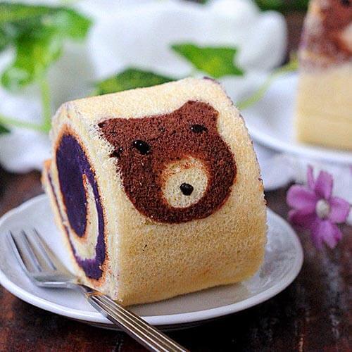 小吃小熊紫薯卷