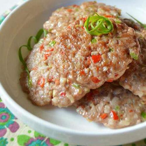 自制莲藕肉饼