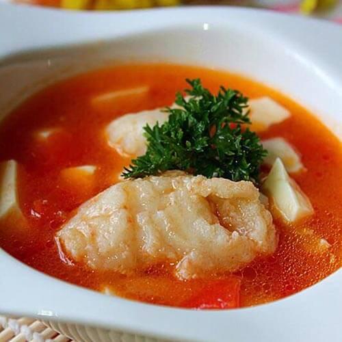 酸辣的番茄豆花魚