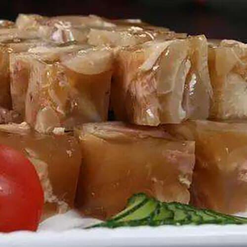 香嫩可口的猪蹄冻肉