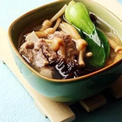 好吃的茶樹菇蓮藕排骨湯#新