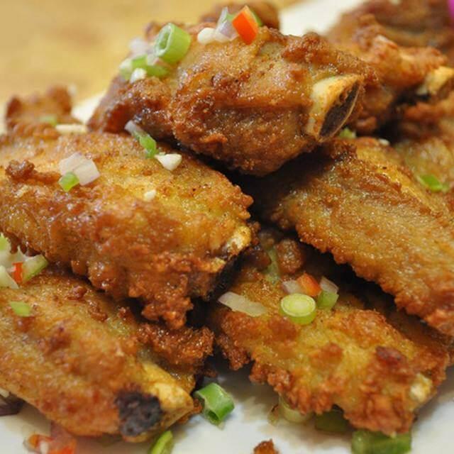 好吃的干锅椒盐排骨