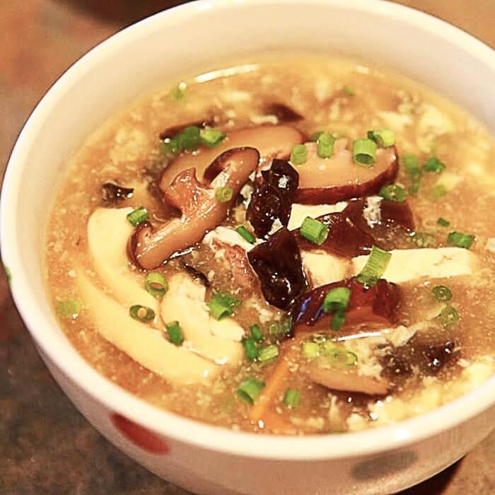好喝的肉末豆腐酸辣汤
