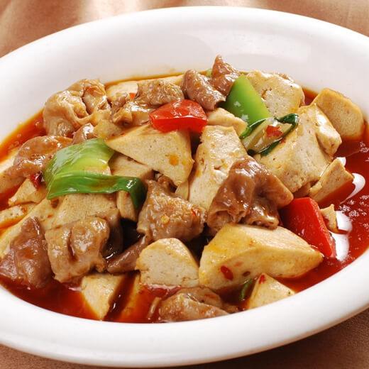 鲜味咸蛋黄焖豆腐