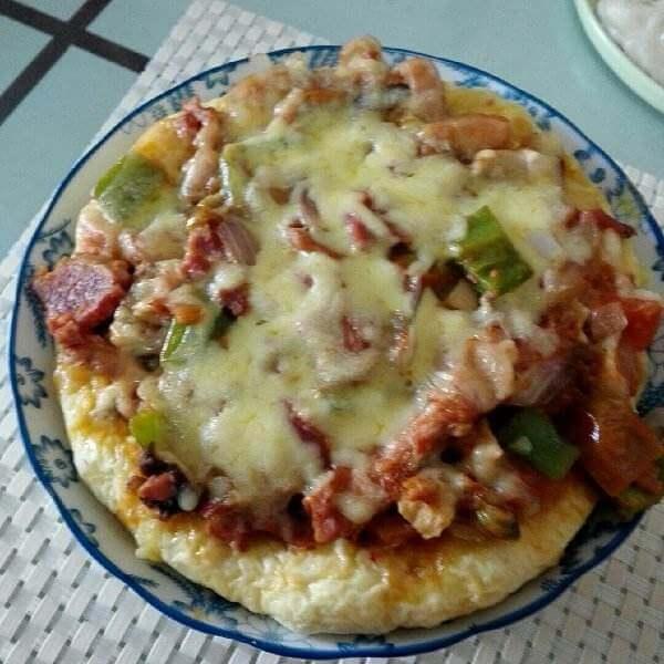香香微波炉红豆披萨