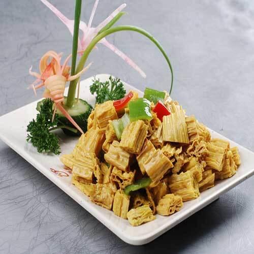 好吃的蒜苗臘肉炒腐竹
