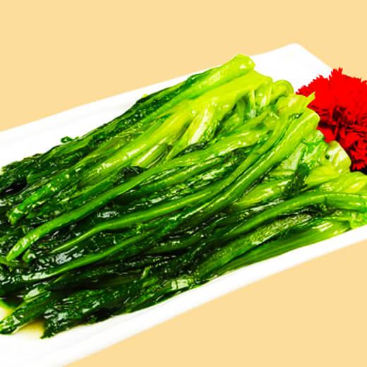 可口清炒油麦菜