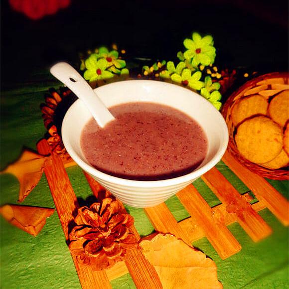 有营养的紫米红豆薏米糊