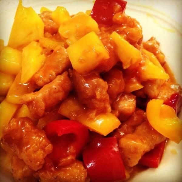 美味的番茄菠萝炒虾仁