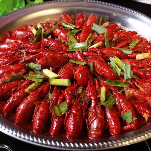 美味的香辣龙虾