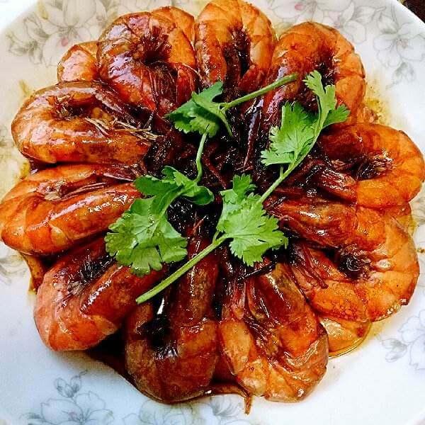 好吃的耗油焖虾