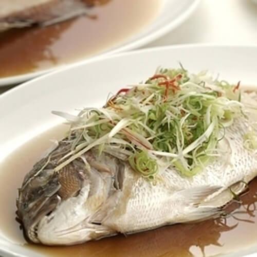 美味的清蒸白面鱼