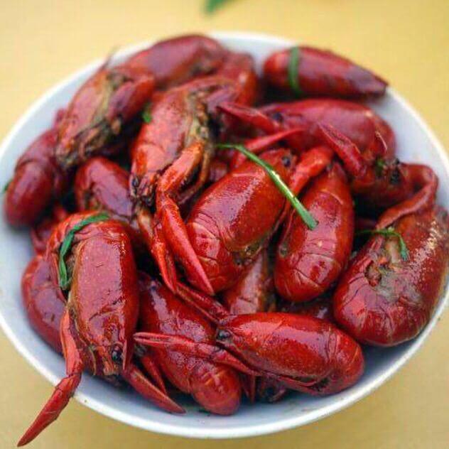 鲜美的香辣龙虾