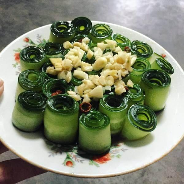 下饭的翡翠黄瓜卷