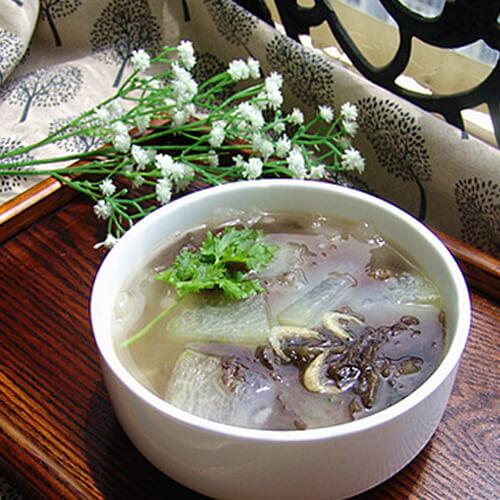 自制河虾紫菜冬瓜汤