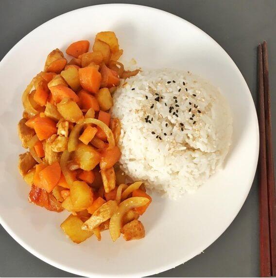 美味肉末土豆燜飯