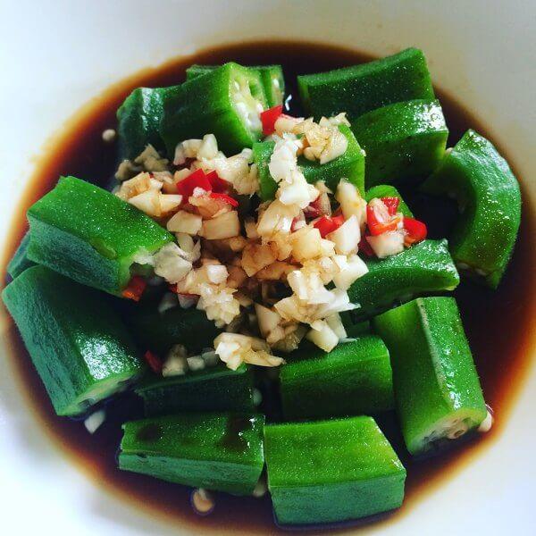 美味白煮秋葵