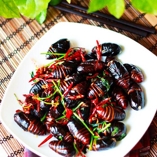 干煸蚕蛹的做法
